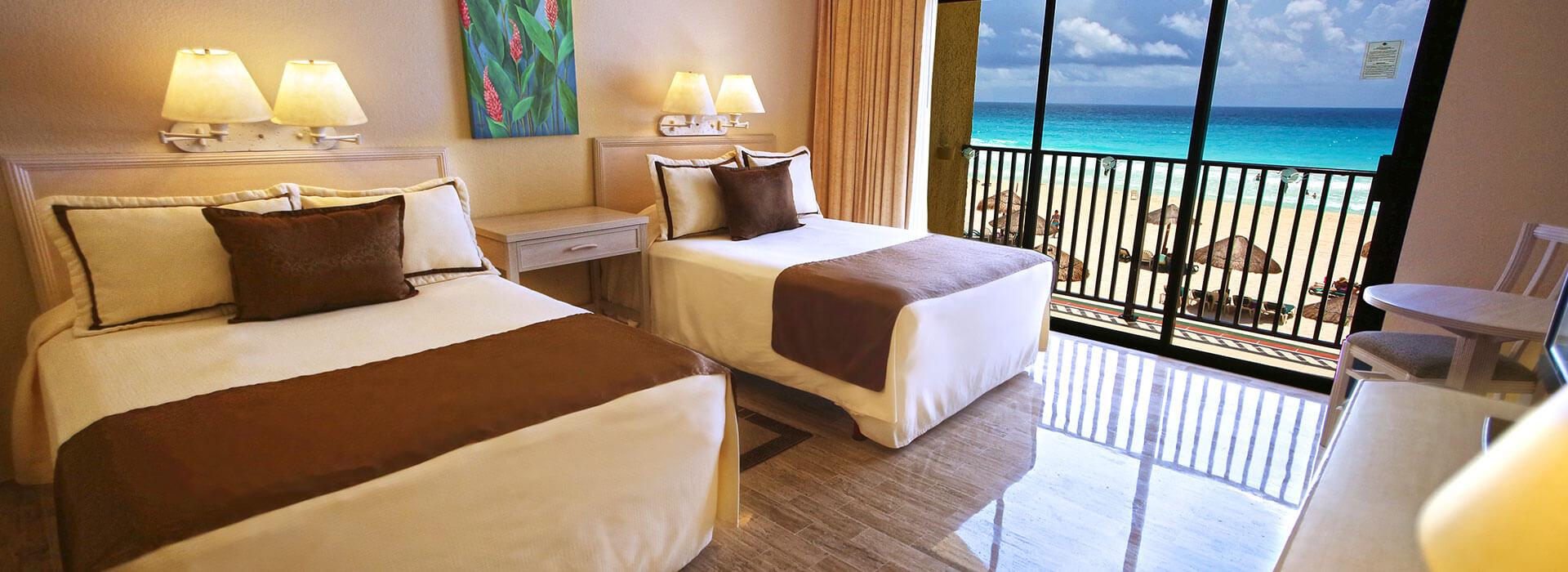 suite frente al mar en hotel de Cancún