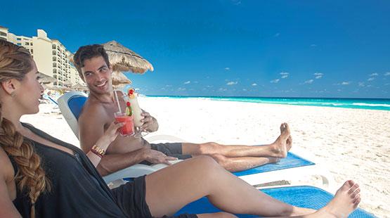 viaje en pareja a la playa de Cancún